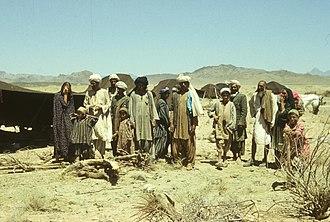 Perahan tunban - Image: Koczownicy (kuči). Obóz szczepu Ačakzaj z pasztuńskiego plemienia Durrani Farah 001642s
