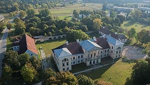 Kuusalu Parish - Image: Kolga mõisa peahoone õhust lääne külg