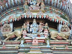 Koodal Azhagar temple - Stucco image of presiding deity