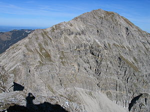 Ammergau Alps - The Kreuzspitze (2,185 m) from the south