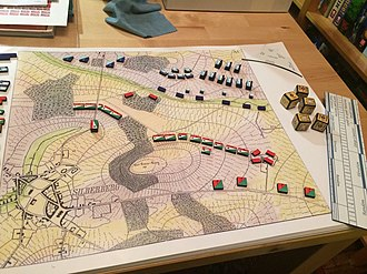 Strategy game - A German military wargame from 1824.