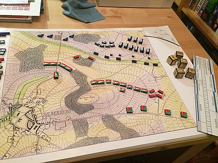 A German military wargame from 1824 Kriegsspiel 1824.jpg