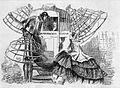 Krinolinställ bundna på vagn. Repro ur Illustrerad Tidning nr. 41, 1858 - Nordiska Museet - NMA.0053768.jpg