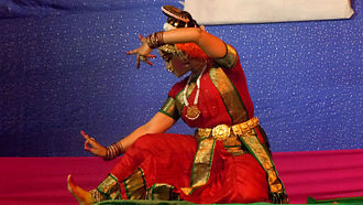 Krishna district - A Kuchipudi Dancer performing on stage