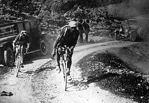 1921 Tour de France - Léon Scieur during the 1921 Tour de France, which he won