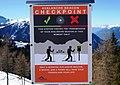 LVS-Checkpoint Lawinenverschüttetensuchgerät am Goldeck, Kärnten, Österreich, Europäische Union.jpg