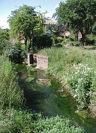 Welbeck Hill - Laceby Beck, fed by Welbeck spring, flows into the River Freshney before it reaches Grimsby.