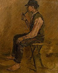 Study of a Seated Man with a Pipe