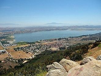 Lake Elsinore, California - View of Lake Elsinore and surrounding area