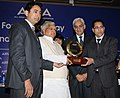 Lalu Prasad presenting the AIMA- Dr. J S Juneja Award for Creativity & Innovation for Small & Medium Enterprises to MS Muskaan Power Infrastructure Ltd., at the Foundation Day of All India Management Association (AIMA).jpg
