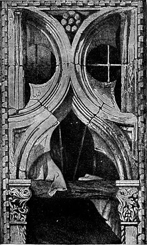 The Seven Lamps of Architecture - Plate VIII - Window from the Ca' Foscari, Venice. Ruskin was one of the first critics to employ photography to aid the accuracy of his illustrations.