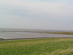 Land reclamation from the North Sea at Hedwigenkoog