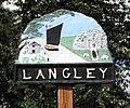 Langley village sign (close-up) - geograph.org.uk - 1425196.jpg