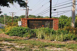 Lansdowne High School - Image: Lansdowne High School Sign