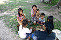 Lao Mangkong family eats together.JPG