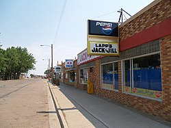 Storefronts in Hebron, North Dakota
