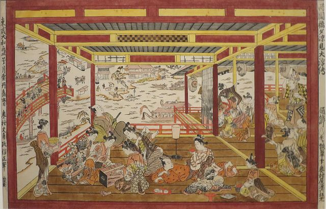 640px-Large_Perspective_Picture_of_Evening_Cool_by_Ryogoku_Bridge_by_Okumura_Masanobu.JPG (640×410)
