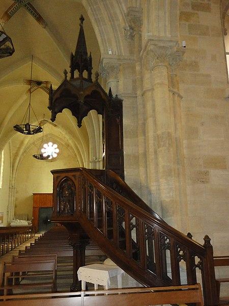 Le Barp (Gironde) église, chaire