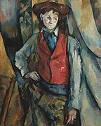 Le Garçon au gilet rouge, par Paul Cézanne, National Gallery of Art.jpg