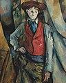 Le Garçon au gilet rouge, par Paul Cézanne, National Gallery of Art.jpg