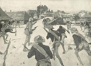 Battle of Santa Cruz (1899) - Lawton leading his troops