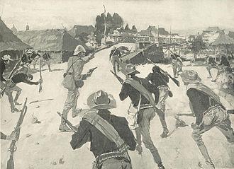 Battle of Santa Cruz (1899) - Image: Leadingthe Troops Santa Cruz 0