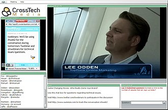 Web conferencing - Example of a web conferencing computer screen