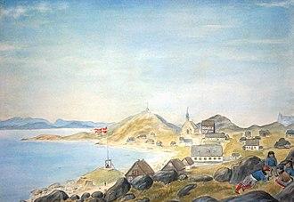 Greenland - Godthåb in Greenland, c. 1878