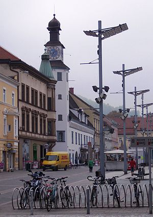 Leoben - Main square and old city hall