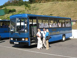 Leyland Swift - Tantivy Blue Coach Tours Wadham Stringer bodied Swift on Jersey in September 2008