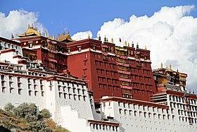 Le palais du Potala, construit par le 5e dalaï-lama, au XVIIesiècle
