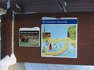 Liard River Hot Springs Provincial Park - Information panel