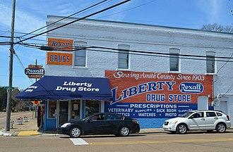 Liberty, Mississippi - Image: Liberty drug store 2018