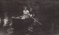 Lillian Piatt (born 1921) and Ralph Herman Freudenberg (1931-1992) boating on the Delaware and Hudson Canal near the home of Marion May Piatt (1876-1978) in Cuddebackville, New York in August of 1940.png