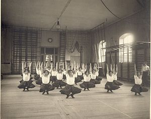 Pehr Henrik Ling - Swedish gymnastics at the Royal Gymnastics Central Institute in Stockholm about 1900