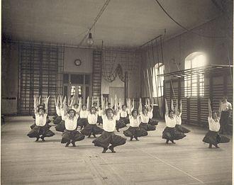 Pehr Henrik Ling - Swedish gymnastics at the Royal Gymnastics Central Institute in Stockholm about 1900