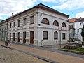Listed dwelling building with shops. - 1 Arany János St., Kecskemét 2016 Hungary.jpg