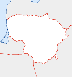 Šiauliai is located in Lithuania