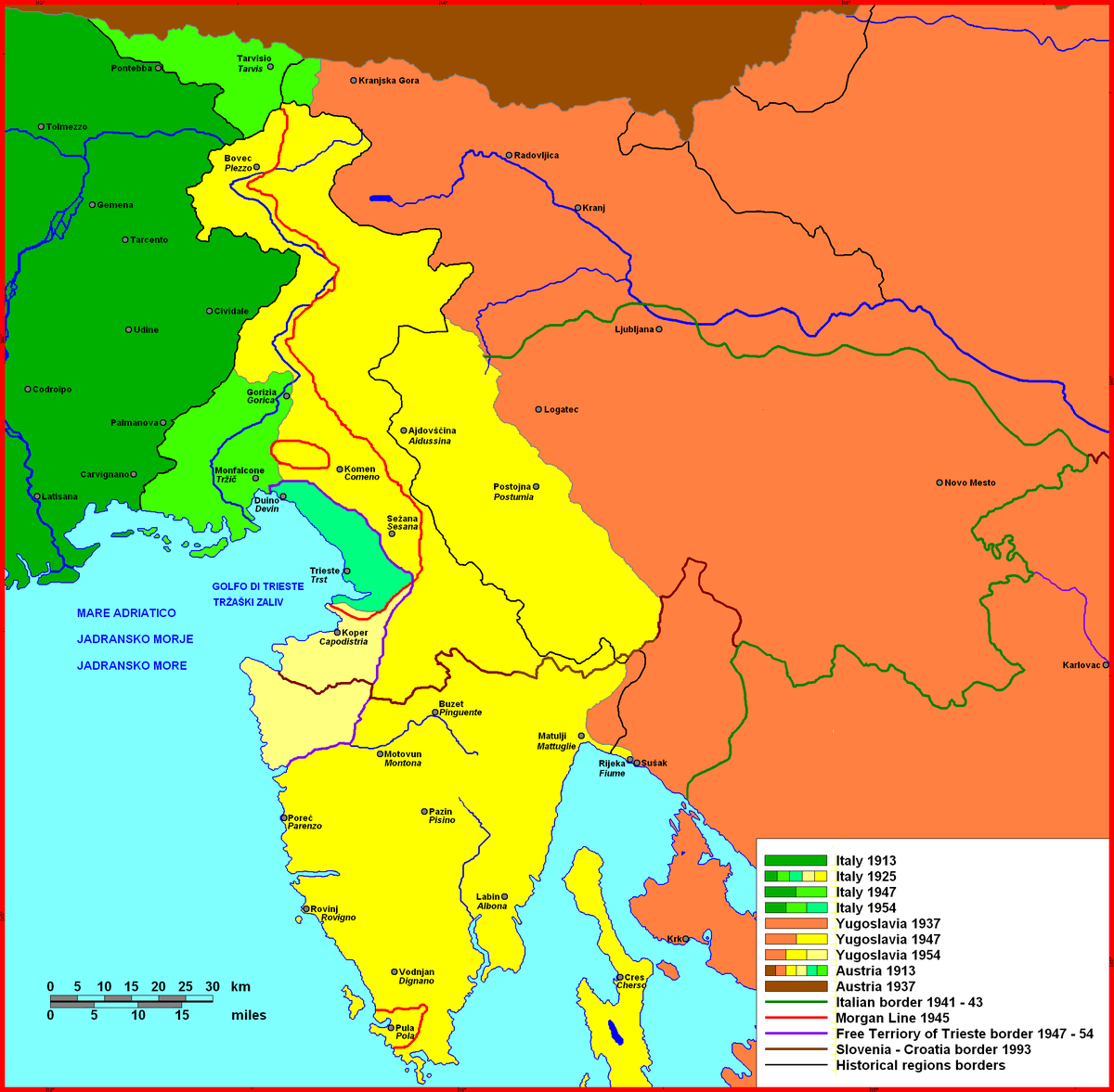 Treaty Of Rapallo Wikipedia - Map of austria and italy