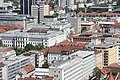Ljubljana, view from the castle to the court palace.JPG