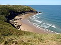 Llangennith Sands and the Three Chimneys cave - geograph.org.uk - 217033.jpg