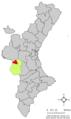 Localització de Cofrents respecte del País Valencià.png