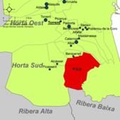 Localització de Silla respecte de l'Horta Sud.png