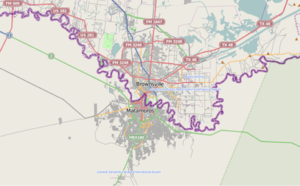 Primary urban area of Matamoros–Brownsville