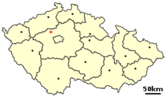 Location of Czech city Slany.png