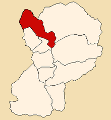 Location of Huallanca in the Huaylas province