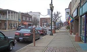 Logan, Ohio - West Main Street in downtown Logan in 2006