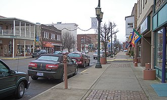 Logan, Ohio - West Main Street in downtown Logan in 2006