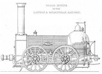 Bury Bar Frame locomotive - Bury 0-4-0 for the London and Birmingham Railway, 1838