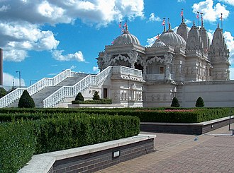 British Indian - The BAPS Shri Swaminarayan Mandir London is one of the largest Hindu temples in the world outside India